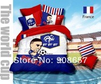 2014 new National soccer team of France Europe football RIBERY FFF printed bedding cotton queen full duvet covers bedclothes set