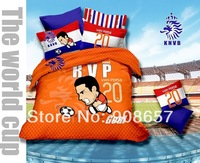 2014 new National soccer team of Netherlands Europe football RVP VAN PERSIE bedding cotton queen full duvet cover bedclothes set