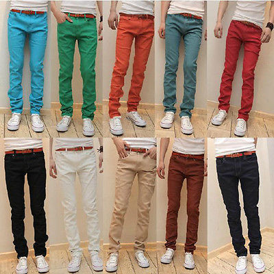 Discount Wholesale Men Stylish Pants Multi Colored Designer Pencil ...