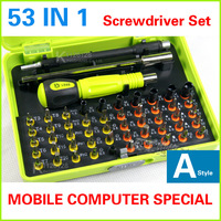 Free shipping Wholesale 2014 new 53 in1 Multi-purpose precision Magnetic Screwdriver Set PC Notebook phone iphone4 Chaiji tools