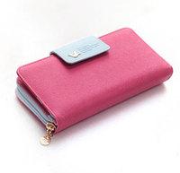 Promotion 2014 new arrival famous Brand designer Women  Wallet Hasp high Capacity Purse Clutch wallet phone bag cion bag