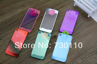 Hot selling New Transparent Back Cover Cases Removable Protective Cover plating Tempered glass Case for Apple 4/4S