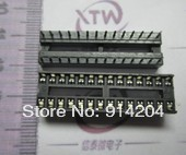 Free Shipping 100pcs 28pin DIP IC sockets Adaptor Solder Type 28 pin Narrow body