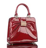 2014 new arrival,bowknot paint leather totes bag,bride wedding elegant totes bag,Euro USA stylish women's handbag!