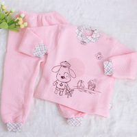 Children's clothing infant autumn and winter wadded jacket male cartoon set cotton thermal clothes twinset