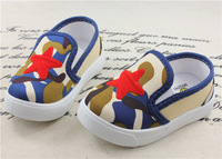 Free Shipping Fashion Boy Children's Shoes Camouflage Shoes Star Kid Canvas Shoes