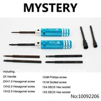 Mystery H1.5 H2.0 H2.5 H3.0 Hexagonal screw, 0# Phillips screw,1# Slotted screw, 4.0BOX 5.5BOX Hex socket Tools(Blue)