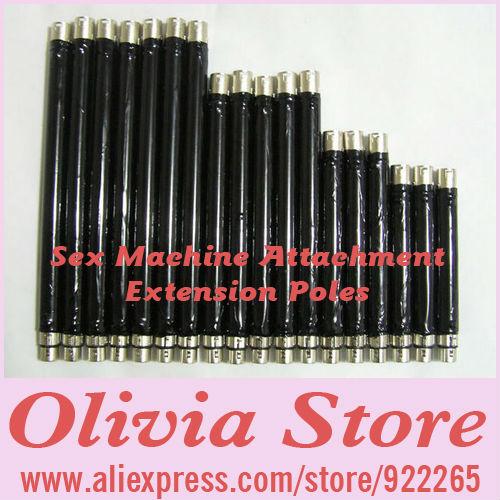 Sex Machine Attachment Extension Poles,Pole 15cm,20cm,25cm,30cm,Combination up to 60cm Long,Sex Attachment,Sex Toys(China (Mainland))