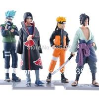 2014 NEW Hot 4 PCS/set Naruto 12cm kakashi itachi sasuke Anime Assortment Figures Set The 19th Generation Collection Model toy