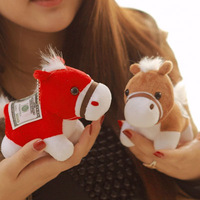 Lucky horse plush toy mascot birthday gift horse doll pendant