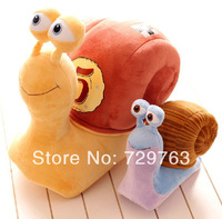New 2014 Anime Speed Snail Doll Snails Racing Stuffed Animals Plush Toys Baby Toy Kids Children Dolls Birthday Gift H 18cm