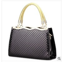 2014 New arrival women's fashion elegant rhombic pattern totes handbags Free shipping 3b14