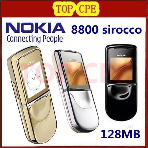 Original unlocked Nokia 8800 sirocco 128MB phones russian Keyboard and Russian language Refurbished 1 year warranty(China (Mainland))