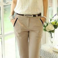 S- XL summer casual pants New 2014 spring women's long trousers plus size pants women harem slim formal trousers capris pants