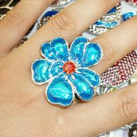 YH MIXED wholesale 10PCS/lot Tibet Adjustable gorgeous men/women enamel  ring  m033