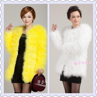 Hot-selling 2015 ostrich wool medium-long fur coat