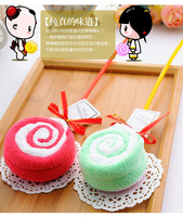 Free shipping Lollipop cake towel colorful candies creative gift towels cotton towel