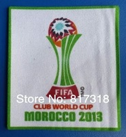 wholesale free shipping 2013 Club World Cup Morocco soccer patch soccer Badges