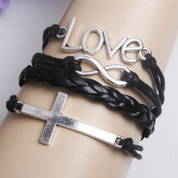 The redemption of the cross of love bracelet with infinite symbols composite multilayer W8018
