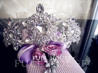 Bride tiara wedding accessories accessory white rhinestone bridesmaid jewelry tiaras and crowns