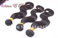 Free Shipping Unprocessed indian grade 5a Body Wave 2 pcs/lot 3.5 oz/pc No Tangle No shedding indian virgin remy hair
