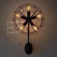 Rh loft american vintage fan wall lamp