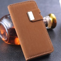 10 pieces/lot Soft Feel Luxury Leather Case for iPhone 5 5g iPhone5  phone bag Stand Wallet Flip Book with Card Holder
