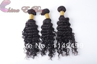100% virgin Indian hair deep wave 1pc sample human hair order Could be dyed or bleached Queen hair products hair extension