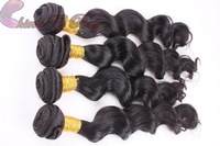 100% virgin Indian hair loose wave 2pc human hair Queen hair products hair extensionno smell no tangle no shedding