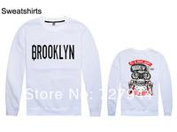 2014 New arrival Wholesale Cheap Sportwear Brooklyn Sweatshirt Winter Sports Pullover Cool Men Crewneck Free Shipping