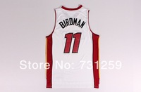 # 11  Chrish Anderson Miami Nicknam BIRDMAN  black and white Basketball Jersey Fabrics   Free  Shipping