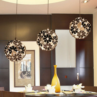 Modern brief pendant light restaurant lamp bedroom lamp fashion romantic three head rustic pendant light lighting lamps