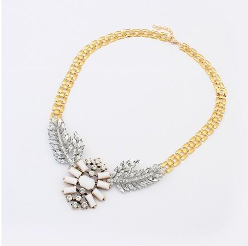 (Min order $10 mix) New Design Fashion Ladies Punk Metal Thick Black Snake Chain Rhinestone Collar Necklace(China (Mainland))