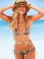 Free Shipping Product Recommendation Sexy Lady Condole Swimsuit Bikini Beach Clothing Leopard Swimsuit Bandage Swimsuit Y038