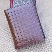 genuine leather short design men's genuine leather short transverse cowhide short wallet
