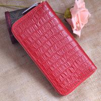 Genuine leather wallet stone pattern women's zipper long design wallet genuine leather long design big wallet free shipping