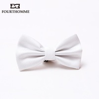 New mens tie/cravat  LLADRO white male bow tie banquet wedding groom  hot sale free shipping