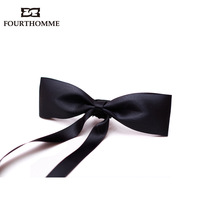 Double layer quality male bow tie male bow tie bow casual bow tie gown collar classic black