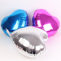 Mix color 10inch 100pcs/lot  heart balloon Promotion Toy For Wedding Birthday Party Inflatable Ballons Aluminum Foil Balloon