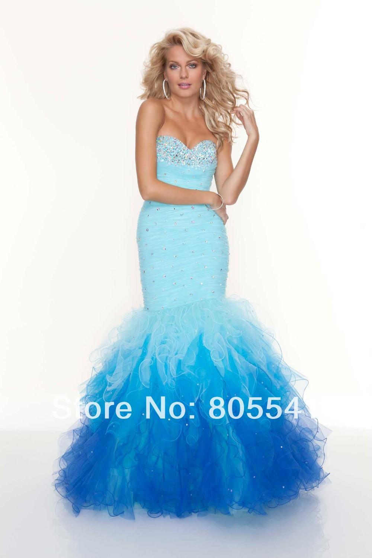 Elegant Prom Dresses Long Mermaid Strapless images