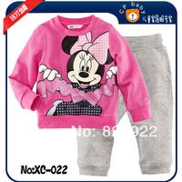 "Fashion Spring / Autumn Children's clothing ""CALUBY"" Long sleeve Cartoon Printing Meaney Pyjamas Set Cotton Tracksuit Set"