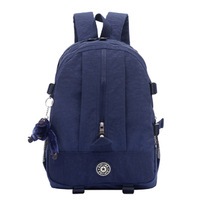 KP-061 newly 2014 nylon shoulder laptop women backpack come with monkey many colors and school bag free shipping