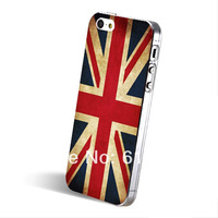British flag  painted monocoque cell phone case for iPhone5 5s