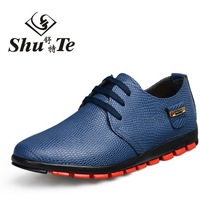 New Men's Business Casual Snake Grain Genuine Leather Shoes Free Shipping LSM1001