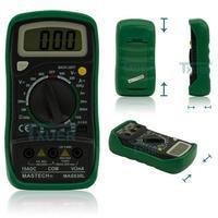 Mastech MAS830L 31/2 Digital Multimeter DC/AC Voltage Resistance Transistor Tester Data Hold Circuit Continuity Test