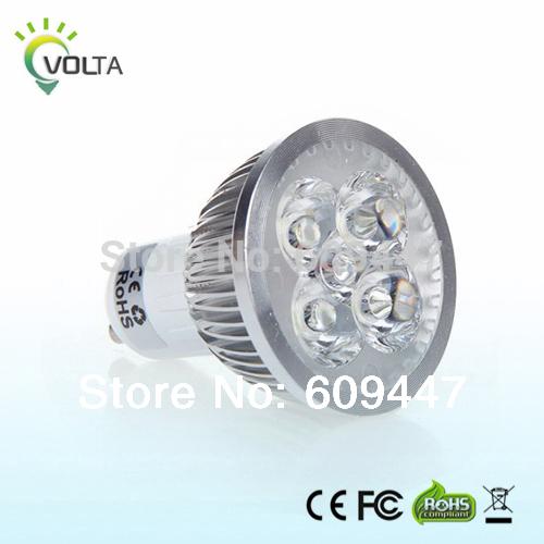 4pcs GU10 Dimmable LED 12w Equivalent to 50w halogen Lamp LED spot Lighting Light B ulb 110v 120v 85-265V 60degrees(China (Mainland))