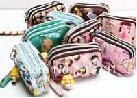 Hot ! Female cartoon doll purse money bag buckle wallet key case