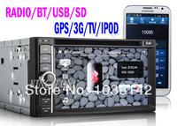 "Wholesale 6.2"" 2 Din HD Car DVD Player with 3G GPS IPOD TV Radio SWC BT  USB SD"
