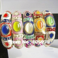 Unique China Cloisonne Enamel Bracelet Opal Stone Bracelets Ladies Bangle Bracelet 1 pcs Free shipping