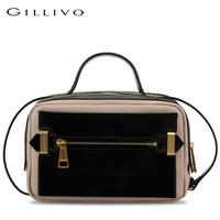 Gillivo women's color block  handbag fashion genuine leather handbag
